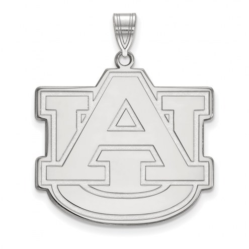 Auburn Tigers Sterling Silver Extra Large Pendant