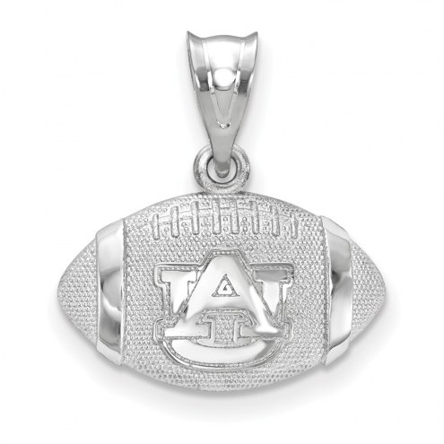 Auburn Tigers Sterling Silver Football with Logo Pendant