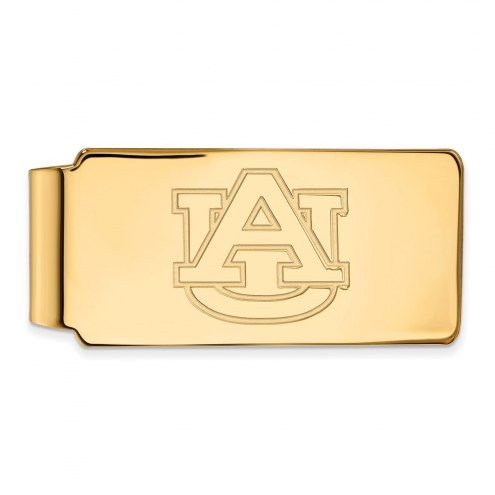 Auburn Tigers Sterling Silver Gold Plated Money Clip