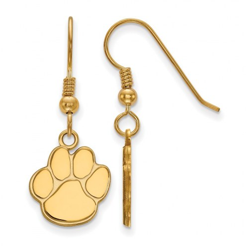Auburn Tigers Sterling Silver Gold Plated Small Dangle Earrings