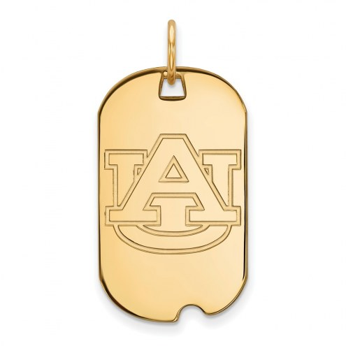Auburn Tigers Sterling Silver Gold Plated Small Dog Tag