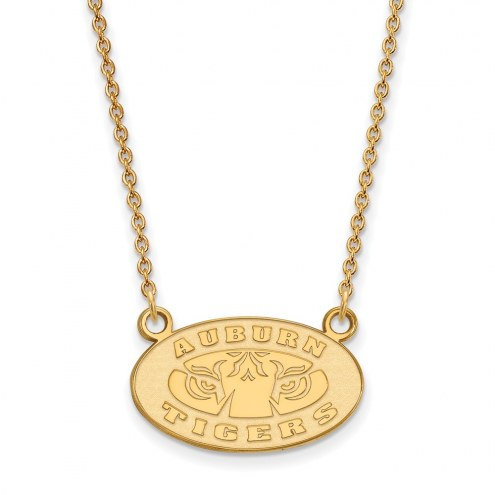 Auburn Tigers Sterling Silver Gold Plated Small Pendant Necklace