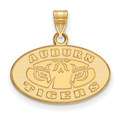 Auburn Tigers Sterling Silver Gold Plated Small Pendant