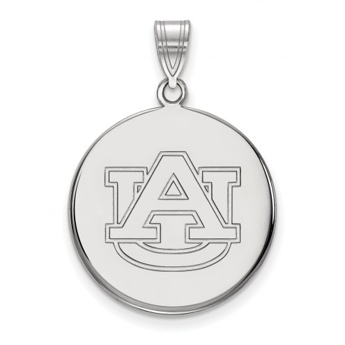 Auburn Tigers Sterling Silver Large Disc Pendant