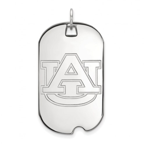 Auburn Tigers Sterling Silver Large Dog Tag