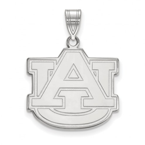 Auburn Tigers Sterling Silver Large Pendant