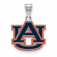 Auburn Tigers Sterling Silver Medium Enameled Pendant