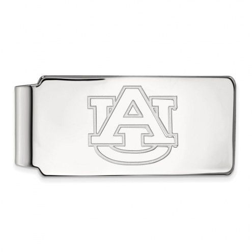 Auburn Tigers Sterling Silver Money Clip