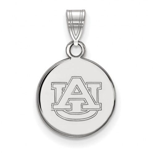 Auburn Tigers Sterling Silver Small Disc Pendant