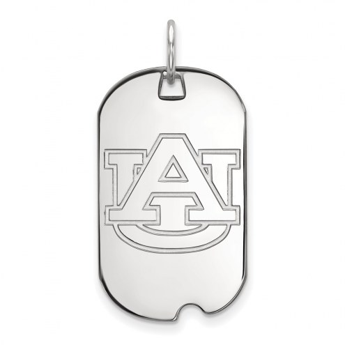 Auburn Tigers Sterling Silver Small Dog Tag
