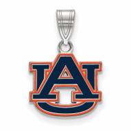 Auburn Tigers Sterling Silver Small Enameled Pendant