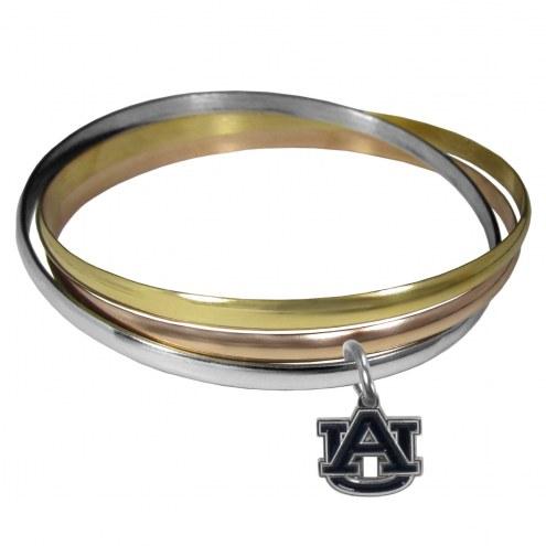 Auburn Tigers Tri-color Bangle Bracelet