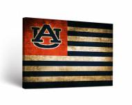 Auburn Tigers Vintage Flag Canvas Wall Art