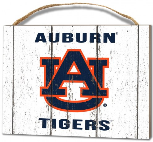 Auburn Tigers Weathered Logo Small Plaque