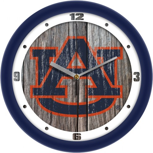 Auburn Tigers Weathered Wall Clock