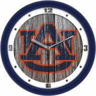 Auburn Tigers Weathered Wall Clock