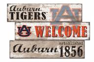 Auburn Tigers Welcome 3 Plank Sign