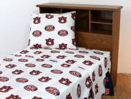 Auburn Tigers White Bed Sheets