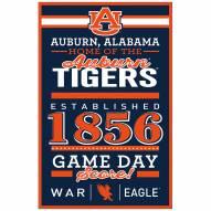 Auburn Tigers Established Wood Sign
