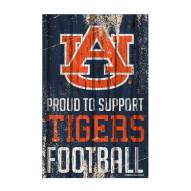 Auburn Tigers Proud to Support Wood Sign