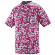 Augusta Youth Digi Camo Wicking Two Button Jersey