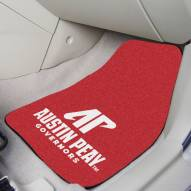 Austin Peay State Governors 2-Piece Carpet Car Mats