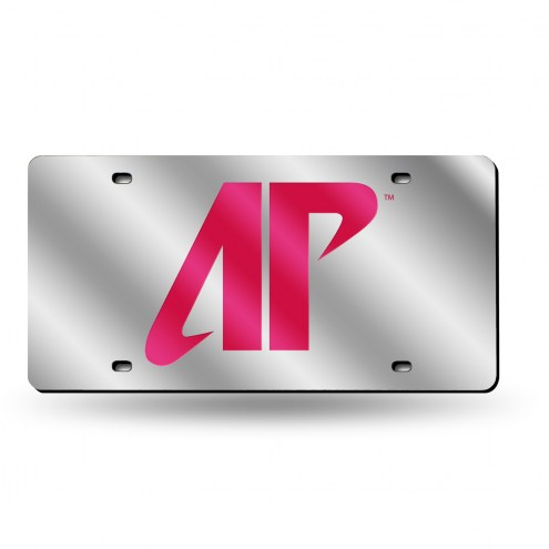 Austin Peay State Governors Silver Laser Cut License Plate