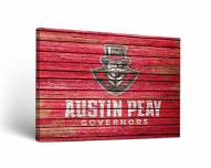 Austin Peay State Governors Weathered Canvas Wall Art