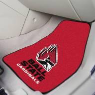 Ball State Cardinals 2-Piece Carpet Car Mats