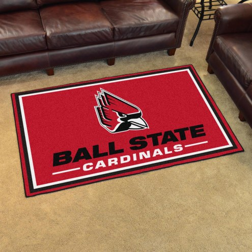 Ball State Cardinals 4' x 6' Area Rug