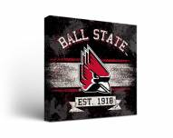 Ball State Cardinals Banner Canvas Wall Art