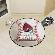 Ball State Cardinals Baseball Rug
