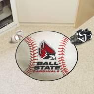 Ball State Cardinals Baseball Rug