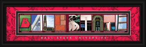 Ball State Cardinals Campus Letter Art
