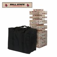 Ball State Cardinals Giant Wooden Tumble Tower Game