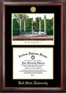 Ball State Cardinals Gold Embossed Diploma Frame with Lithograph