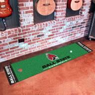 Ball State Cardinals Golf Putting Green Mat