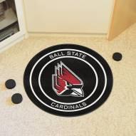 Ball State Cardinals Hockey Puck Mat