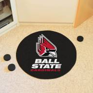 Ball State Cardinals Hockey Puck Mat