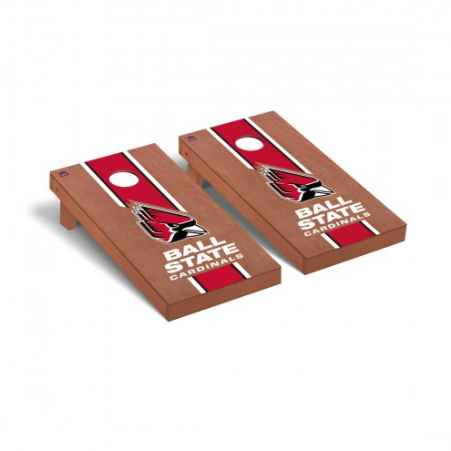Ball State Cardinals Rosewood Stained Cornhole Game Set