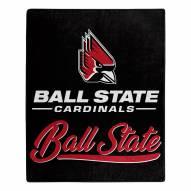 Ball State Cardinals Signature Raschel Throw Blanket