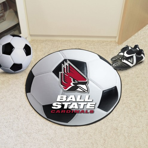 Ball State Cardinals Soccer Ball Mat