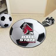 Ball State Cardinals Soccer Ball Mat