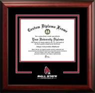 Ball State Cardinals Spirit Diploma Frame