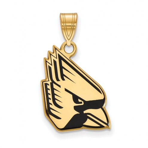Ball State Cardinals Sterling Silver Gold Plated Large Enameled Pendant