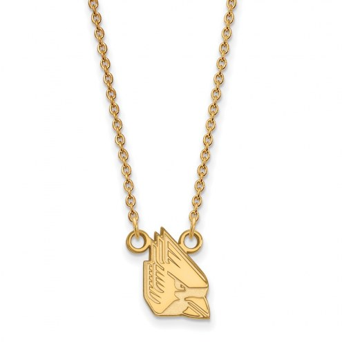 Ball State Cardinals Sterling Silver Gold Plated Small Pendant Necklace