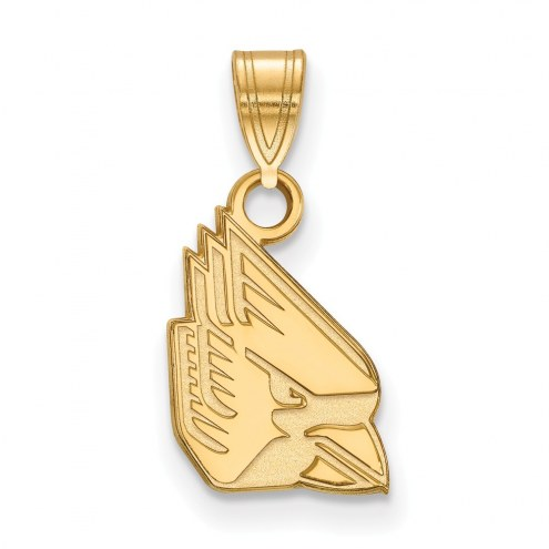 Ball State Cardinals Sterling Silver Gold Plated Small Pendant