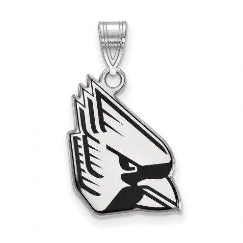 Ball State Cardinals Sterling Silver Large Enameled Pendant