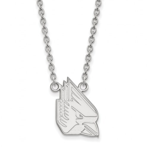 Ball State Cardinals Sterling Silver Large Pendant Necklace