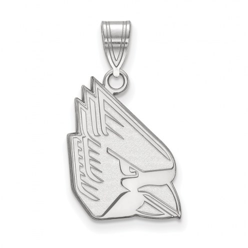 Ball State Cardinals Sterling Silver Large Pendant